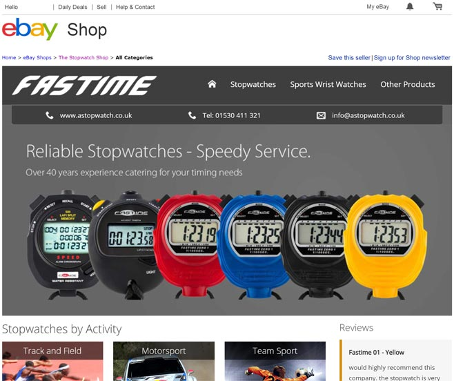The Stopwatch Shop eBay Store