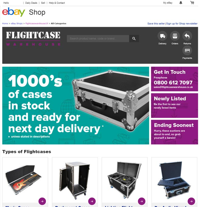 The Flightcase Warehouse eBay Store