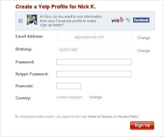 Facebook Registration Tool