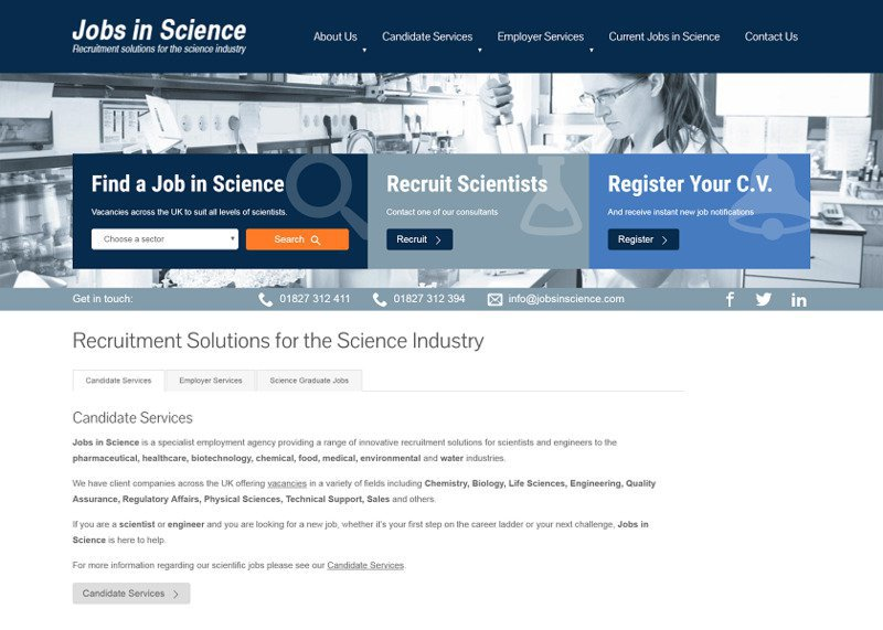 Jobs in Science