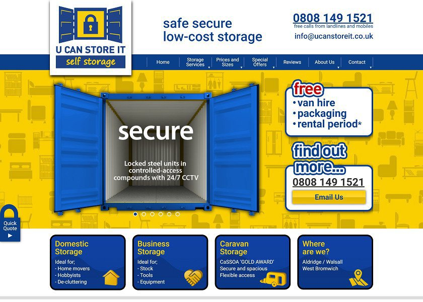 U Can Store It Website Redesign and Optimisation