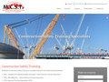 Gallery Screenshot for Responsive site for construction safety training