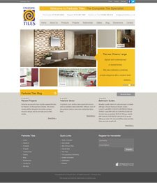Bespoke Brochure Website Design for Parkside Tiles